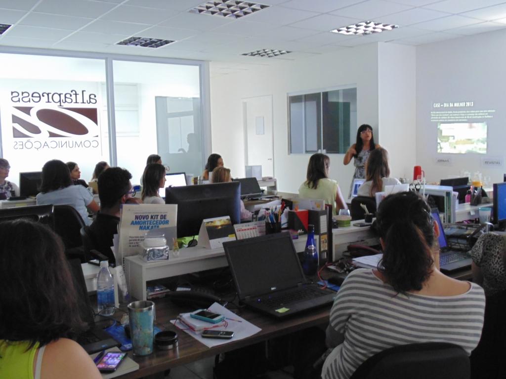 Recentemente, contando um pouco da minha trajetória em uma agência de comunicação em Campinas (SP).